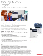 Xerox 2020 Loyalty Rebate