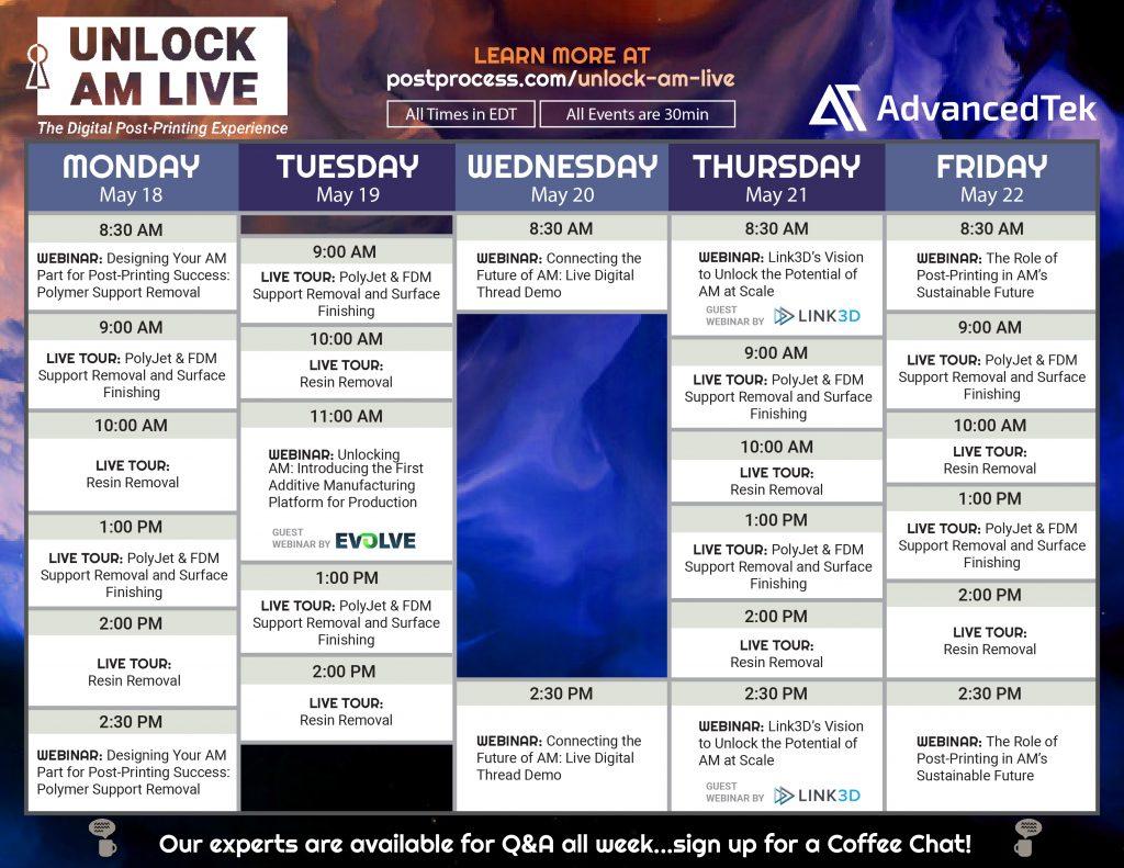 Unlock AM Live The Digital Post-Printing Experience