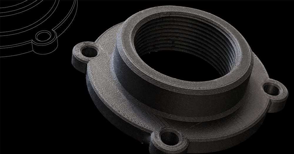 MakerBot Nylon Carbon Fiber threaded pipe anchor