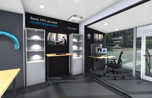 Stratasys Mobile Showroom - rendered inside view 2