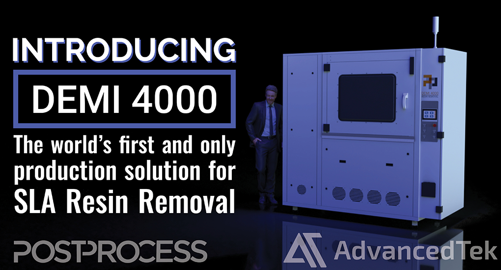 PostProcess DEMI 4000 SLA Resin Removal System